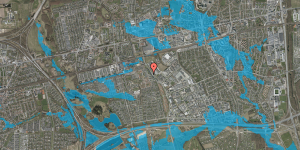 Oversvømmelsesrisiko fra vandløb på Promenaden 138, 2625 Vallensbæk