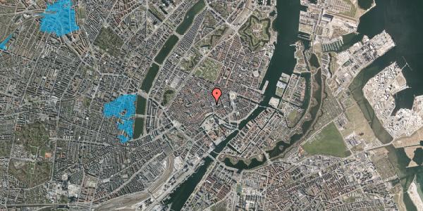 Oversvømmelsesrisiko fra vandløb på Købmagergade 1, st. , 1150 København K