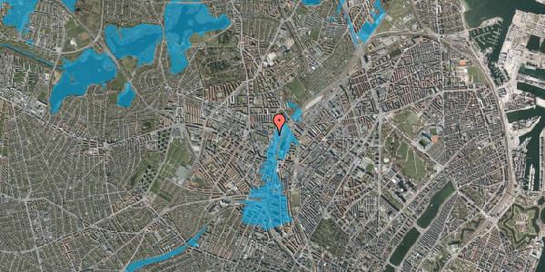 Oversvømmelsesrisiko fra vandløb på Rentemestervej 2B, 2400 København NV