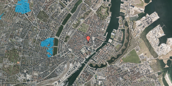 Oversvømmelsesrisiko fra vandløb på Store Kirkestræde 1B, 4. mf, 1073 København K