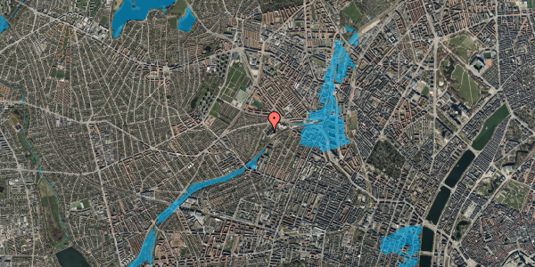 Oversvømmelsesrisiko fra vandløb på Jordbærvej 137, 2400 København NV
