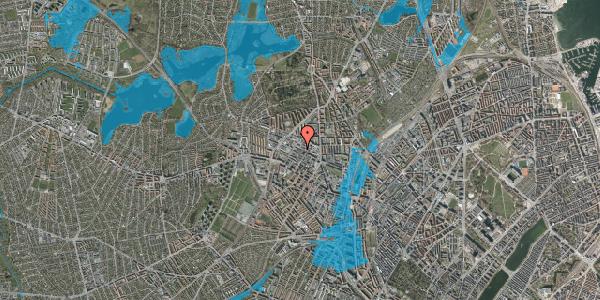 Oversvømmelsesrisiko fra vandløb på Rentemestervej 56A, 2400 København NV