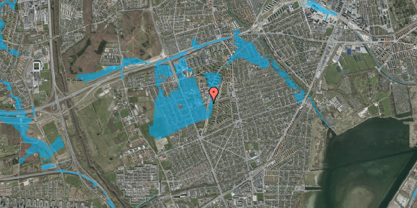 Oversvømmelsesrisiko fra vandløb på Bibliotekvej 55A, st. , 2650 Hvidovre