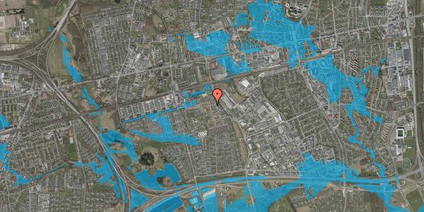 Oversvømmelsesrisiko fra vandløb på Kløvervænget 15, 2625 Vallensbæk