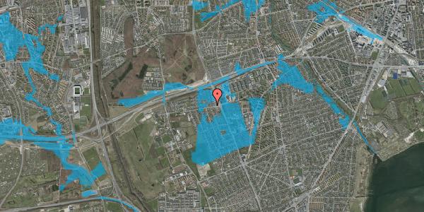 Oversvømmelsesrisiko fra vandløb på Hf. Kettehøj 128, 2650 Hvidovre