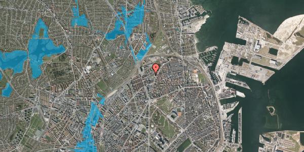 Oversvømmelsesrisiko fra vandløb på Venøgade 24, st. tv, 2100 København Ø