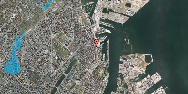 Oversvømmelsesrisiko fra vandløb på Østbanegade 87, 2100 København Ø