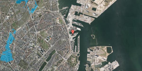 Oversvømmelsesrisiko fra vandløb på Marmorvej 9C, 1. th, 2100 København Ø
