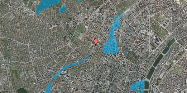 Oversvømmelsesrisiko fra vandløb på Jordbærvej 17, 2400 København NV
