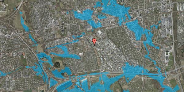 Oversvømmelsesrisiko fra vandløb på Firkløverparken 35, 2625 Vallensbæk