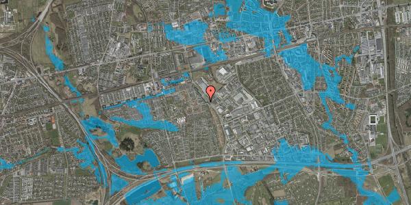 Oversvømmelsesrisiko fra vandløb på Firkløverparken 37, 1. 14, 2625 Vallensbæk