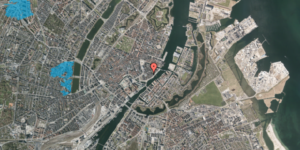Oversvømmelsesrisiko fra vandløb på Peder Skrams Gade 22, 1. , 1054 København K
