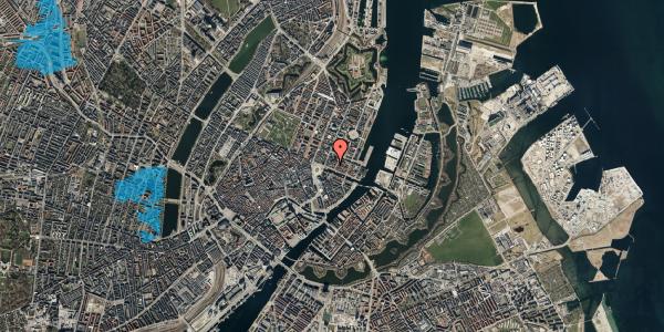 Oversvømmelsesrisiko fra vandløb på Nyhavn 11B, 2. 3, 1051 København K