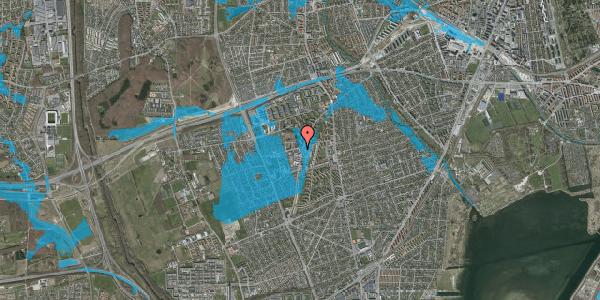 Oversvømmelsesrisiko fra vandløb på Arnold Nielsens Boulevard 60, 2650 Hvidovre