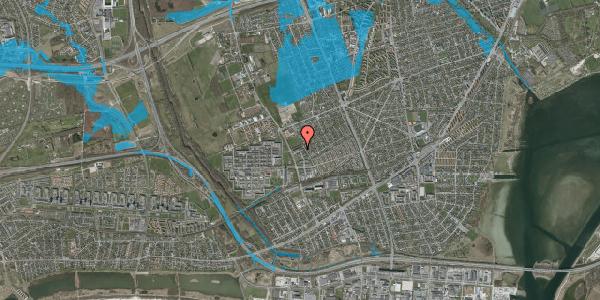 Oversvømmelsesrisiko fra vandløb på Mellemvangsvej 118, 1. th, 2650 Hvidovre