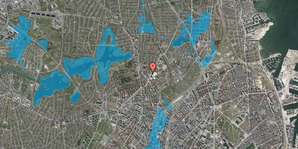 Oversvømmelsesrisiko fra vandløb på Peter Rørdams Vej 4, 2. mf, 2400 København NV
