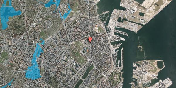 Oversvømmelsesrisiko fra vandløb på Østerfælled Torv 25, st. , 2100 København Ø