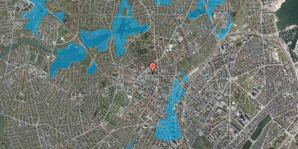 Oversvømmelsesrisiko fra vandløb på Birkedommervej 27, st. , 2400 København NV