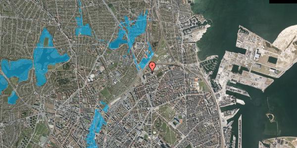 Oversvømmelsesrisiko fra vandløb på Borgervænget 3, 2. , 2100 København Ø
