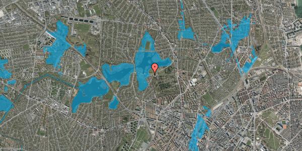 Oversvømmelsesrisiko fra vandløb på Mosesvinget 97, 2400 København NV