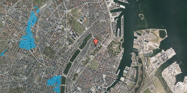 Oversvømmelsesrisiko fra vandløb på Upsalagade 20B, 1. th, 2100 København Ø