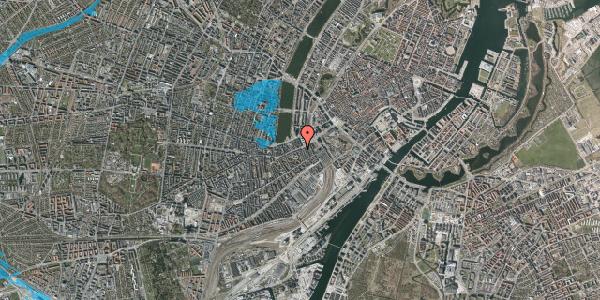 Oversvømmelsesrisiko fra vandløb på Vesterbrogade 13, kl. 1, 1620 København V