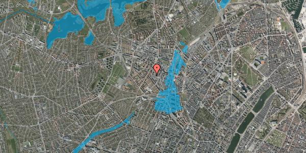 Oversvømmelsesrisiko fra vandløb på Lærkevej 18, 2400 København NV