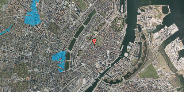 Oversvømmelsesrisiko fra vandløb på Hauser Plads 30B, 1. , 1127 København K