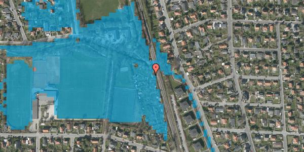 Oversvømmelsesrisiko fra vandløb på Rødhalsgangen 15, 2400 København NV
