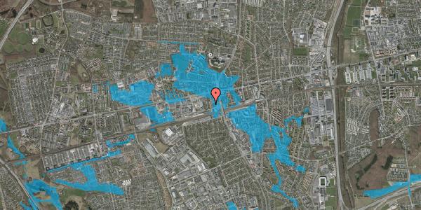 Oversvømmelsesrisiko fra vandløb på Eriksvej 22, 2600 Glostrup