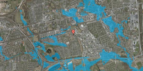 Oversvømmelsesrisiko fra vandløb på Grønkløvervænget 63, 2625 Vallensbæk