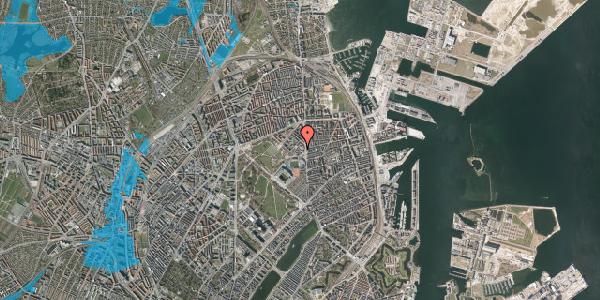Oversvømmelsesrisiko fra vandløb på Østerfælled Torv 18, 2100 København Ø