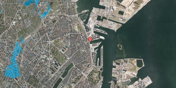 Oversvømmelsesrisiko fra vandløb på Østbanegade 117, 2100 København Ø
