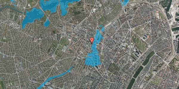 Oversvømmelsesrisiko fra vandløb på Vibevej 7B, 1. tv, 2400 København NV