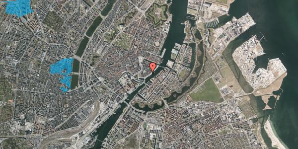 Oversvømmelsesrisiko fra vandløb på Havnegade 31, 1. th, 1058 København K