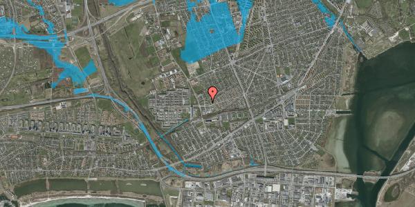 Oversvømmelsesrisiko fra vandløb på Mellemvangsvej 14, 2650 Hvidovre