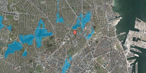 Oversvømmelsesrisiko fra vandløb på Lersø Parkallé 148, 2100 København Ø