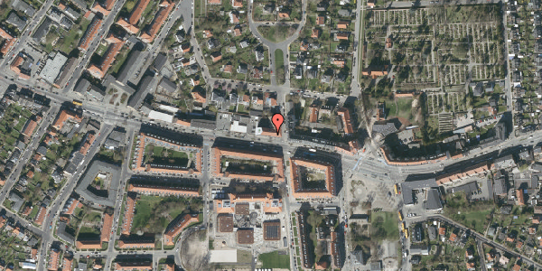 Oversvømmelsesrisiko fra vandløb på Frederikssundsvej 166, st. mf, 2700 Brønshøj