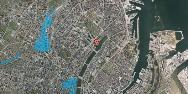 Oversvømmelsesrisiko fra vandløb på Sortedam Dossering 53C, kl. 8, 2100 København Ø