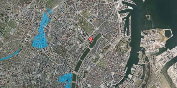 Oversvømmelsesrisiko fra vandløb på Sortedam Dossering 53C, kl. 12, 2100 København Ø