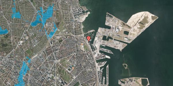 Oversvømmelsesrisiko fra vandløb på Strandvænget 42, st. , 2100 København Ø