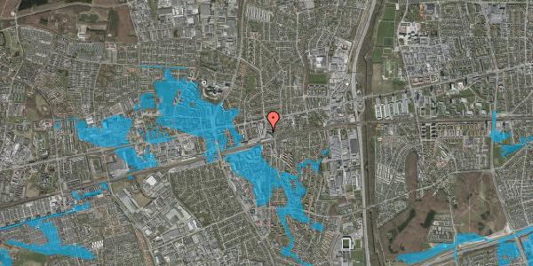 Oversvømmelsesrisiko fra vandløb på Østbrovej 2A, 3. 4, 2600 Glostrup