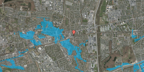 Oversvømmelsesrisiko fra vandløb på Østbrovej 2E, 2. 1, 2600 Glostrup