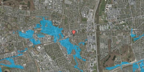 Oversvømmelsesrisiko fra vandløb på Østbrovej 6, st. , 2600 Glostrup