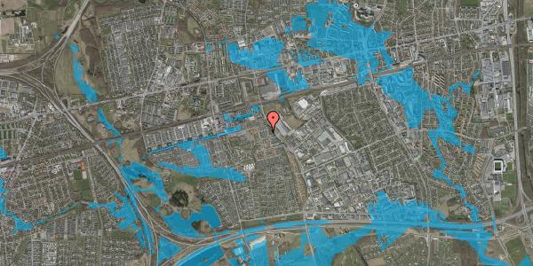 Oversvømmelsesrisiko fra vandløb på Grønkløvervænget 14, 2625 Vallensbæk