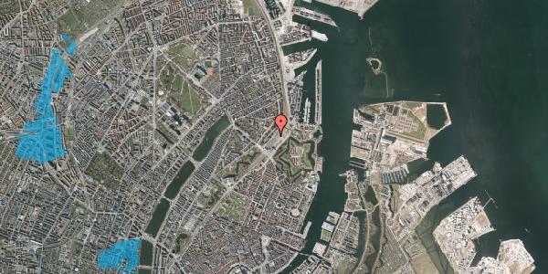 Oversvømmelsesrisiko fra vandløb på Østbanegade 10, 2100 København Ø