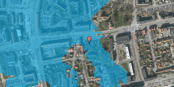 Oversvømmelsesrisiko fra vandløb på Ved Brandstationen 3, 2600 Glostrup