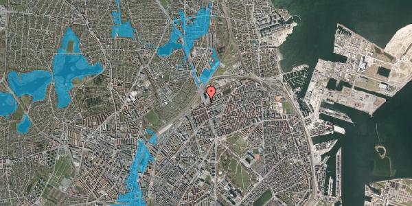 Oversvømmelsesrisiko fra vandløb på Lyngbyvej 90, 2100 København Ø
