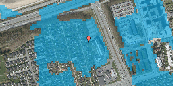 Oversvømmelsesrisiko fra vandløb på Hf. Kettehøj 115, 2650 Hvidovre