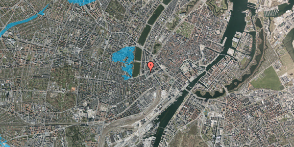 Oversvømmelsesrisiko fra vandløb på Meldahlsgade 6, 4. , 1613 København V